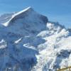 Alpspitze vom Skigebiet am Hausberg
