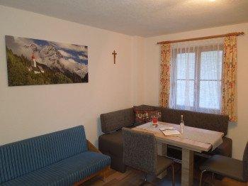 Sitzecke in der Küche der Ferienwohnung