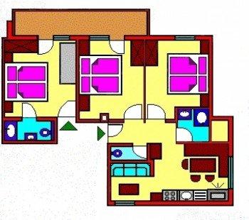 Grundriss 4-Zimmerwohnung