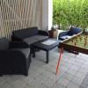 Ruheplatz vor dem Appartement Venediger