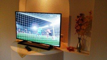 Flachbildfernseher im Wohnzimmer
