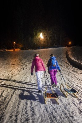 Nachtrodeln in Going am Wilden Kaiser