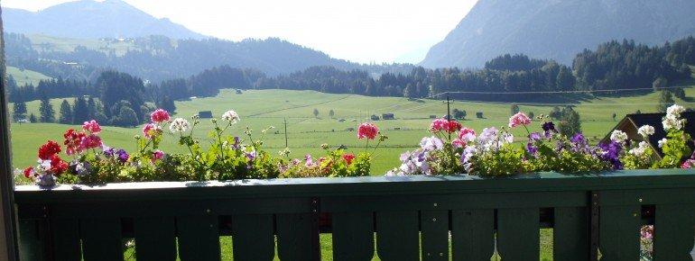 aussicht Ferienwohnung mit Balkon