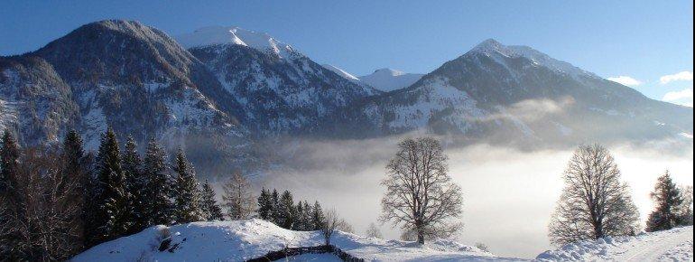 Winterlandschaft mit Blick auf Gamskarkogel