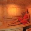 kleine aber feine Zirbenholz-Sauna