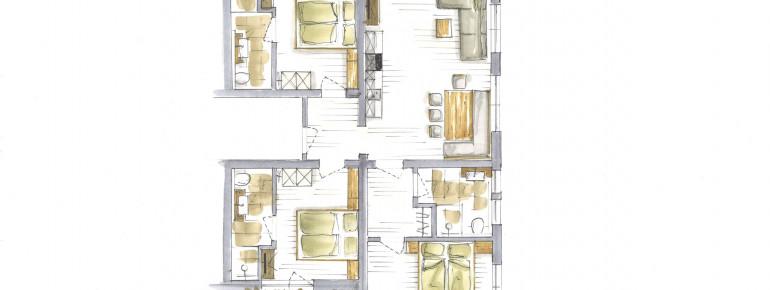 Apartment C 6-8 Personen 85m2