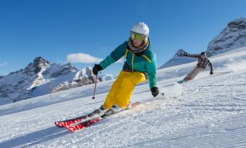 Skifahren in Saas-Fee