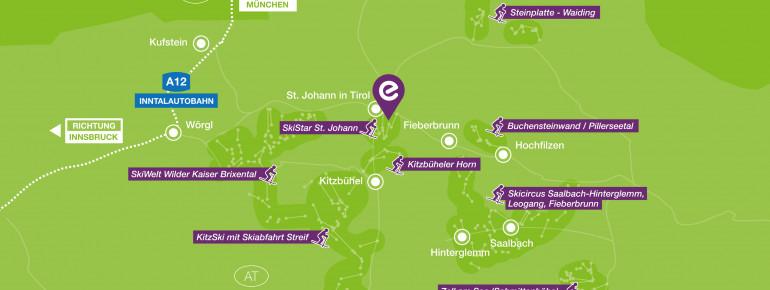 Das Explorer Hotel Kitzbühel liegt inmitten von TOP Skigebieten in Österreich!