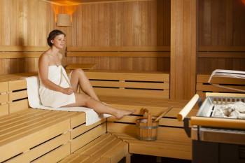 Finnische Sauna im Sport Spa