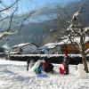 Schneevergüngen im Garten