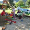 Sandkiste am Kinderspielplatz