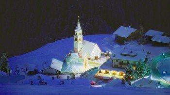 Unser Dorf in einer kalten Winternacht