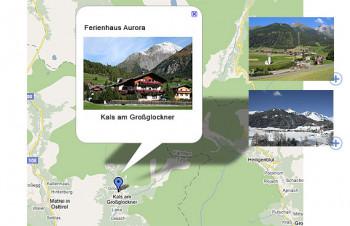 Kals am Großglockner befindet sich südlich des Alpenhauptkamms ca. 1,5 Stunden ab Kitzbühel