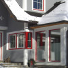Hauseingang, Küchenfenster u. Wintergarten Apartment Biosphäre