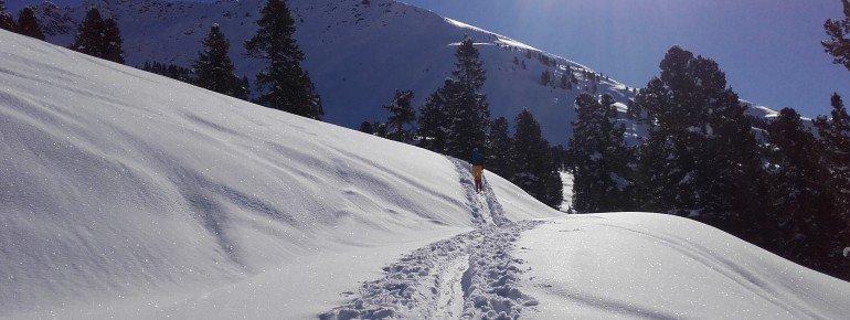 Skitourengebiet in unmittelbarer Entfernung