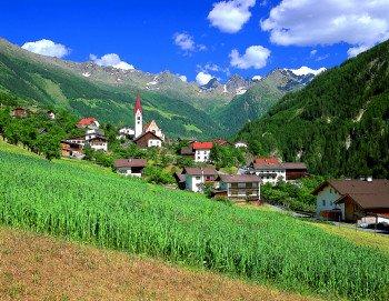 Unser Dorf Kauns am Eingang des Kaunertales