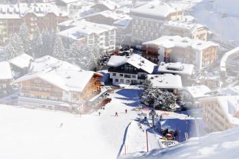 Garni Hotel Arya Alpine Lodge an der Skipiste