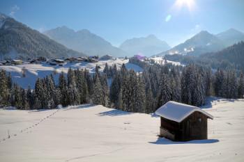 Ideales Wintersportgebiet Kleinwalsertal.