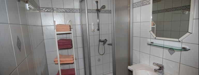 Badezimmer: Dusche und WC getrennt