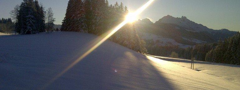 Sonnenaufgang, Biohof Haus Wieser, Abtenau, Salzburg Land