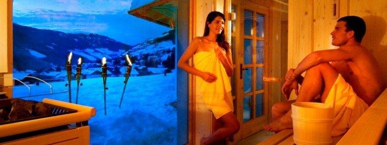 Sauna mit Dolomitenblick