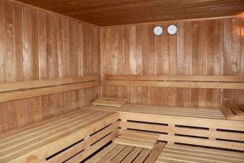 Finnische Sauna im Hotel