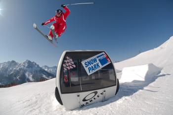 Skifahren am Kronplatz im Pustertal