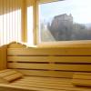 Sauna mit Blick auf Schloss Bruneck im Hotel Corso