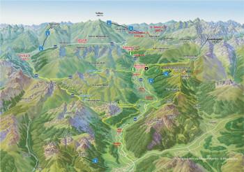 Panoramakarte Arlberg Sommer