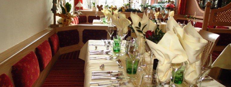 Einer der Speisesääle im Hotel Moser am Weissensee