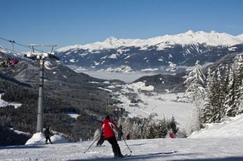 Schifahren am Weissensee