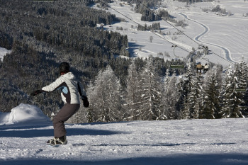 Snowboarden am Weissensee