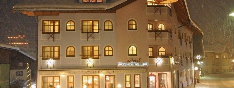 Außenansicht Hotel Schattauer Winter