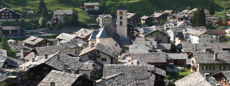 Das einzige Hotel mit Blick auf die typische Valser Dachlandschaft