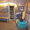 kleiner Wellnessbereich mit Sauna, Infrarot-Kabine und Solarium