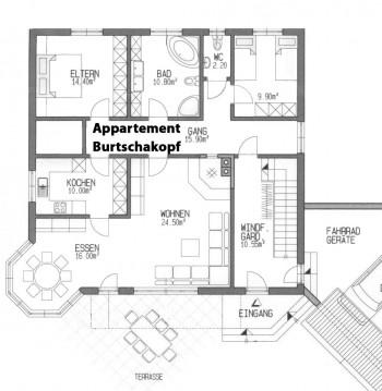 Grundriss Appartement Burtschakopf