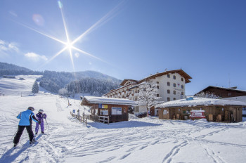 Landhotel Tirolerhof neben der Skipiste