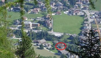 Ciasa Morin Position im Dorf