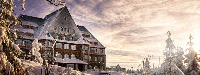 Relaxhotel Sachsenbaude im Winter