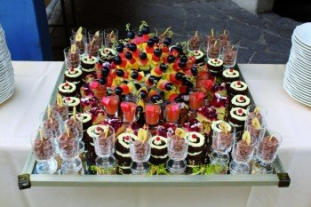 genießen Sie die wundervollen Desserts