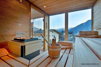 Sauna mit Panoramaaussicht im Hotel Sonnleiten