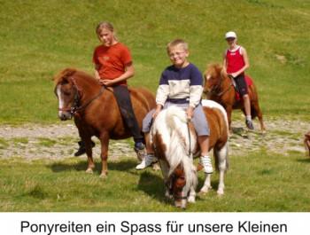 Ponyreiten ein Spass für Ihre Kleinen
