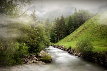 """Die """"Wilden Wasser"""" im Untertal sieht man hier auf einen ruhigen Abschnitt."""
