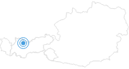 Ski resort Biberwier Marienberg in the Tyrolean Zugspitz Arena: Position on map