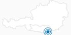 Ski resort Petzen at the Lake Klopein - South Carinthia: Position on map