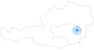 Ski resort Wenigzell in the East Styria: Position on map
