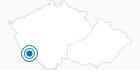 Skigebiet Spicak Zelezna Ruda im Nationalpark Böhmerwald: Position auf der Karte