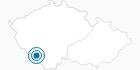 Skigebiet Zadov Churanov im Nationalpark Böhmerwald: Position auf der Karte