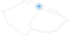 Ski Resort Mlade Buky Czech Krkonose Mountains: Position on map