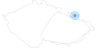 Skigebiet Zlate Hory Altvatergebirge: Position auf der Karte